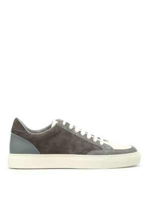 Brunello Cucinelli: trainers - Suede and leather low top sneakers