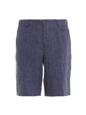 Brunello Cucinelli: Trousers Shorts - Linen shorts