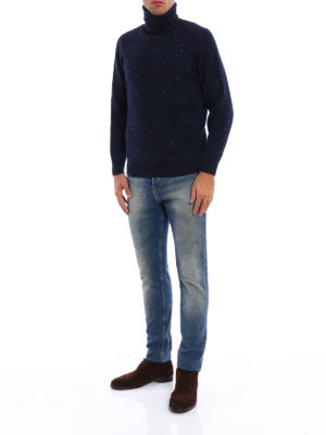 Brunello Cucinelli: Turtlenecks & Polo necks online - Cashmere and wool ribbed turtleneck