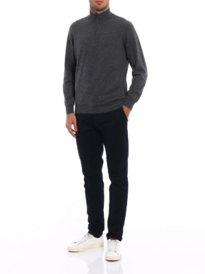 Brunello Cucinelli: Turtlenecks & Polo necks online - Wool and cashmere zipped turtleneck
