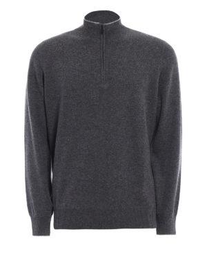 Brunello Cucinelli: Turtlenecks & Polo necks - Wool and cashmere zipped turtleneck