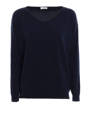Brunello Cucinelli: v necks - Cashmere V-neck sweater