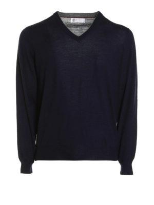 Brunello Cucinelli: v necks - Knitted wool and cashmere V-neck