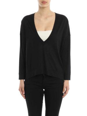 Brunello Cucinelli: v necks online - Cashmere and silk over sweater