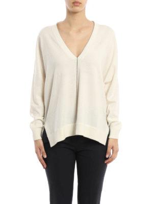 Brunello Cucinelli: v necks online - Cashmere monile sweater
