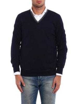 Brunello Cucinelli: v necks online - Combed wool cashmere sweater