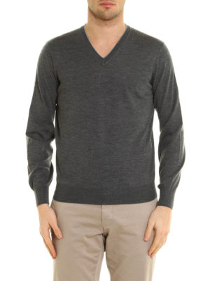 Brunello Cucinelli: v necks online - Knitted wool and cashmere V-neck