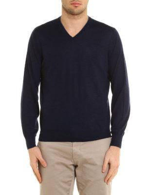 Brunello Cucinelli: v necks online - Knitted wool and cashmere V-neck