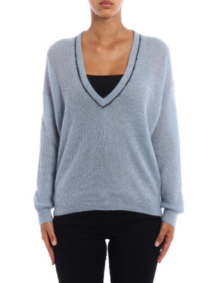 Brunello Cucinelli: v necks online - Mohair and wool V-neck sweater