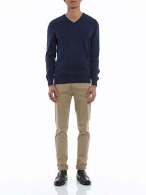 Brunello Cucinelli: v necks online - V-neck cotton sweater