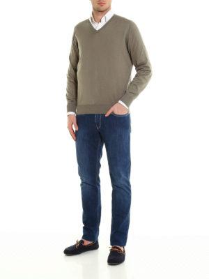 Brunello Cucinelli: v necks online - V neck pullover