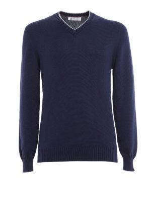Brunello Cucinelli: v necks - V-neck cotton sweater