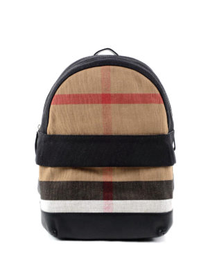 Burberry: backpacks - Check canvas backpack