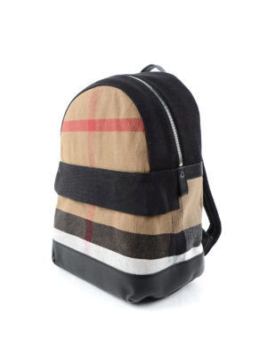 Burberry: backpacks online - Check canvas backpack