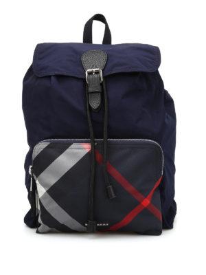 Burberry: backpacks - Packaway nylon backpack