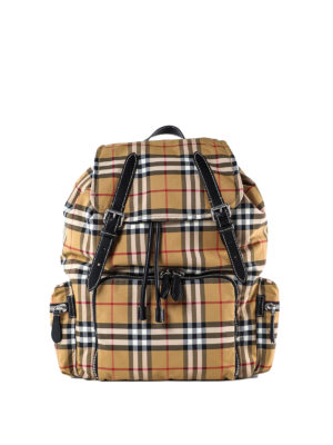 BURBERRY: backpacks - The Large Rucksack Vintage check backpack