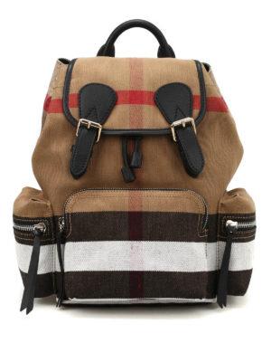 Burberry: backpacks - The Rucksack medium canvas backpack