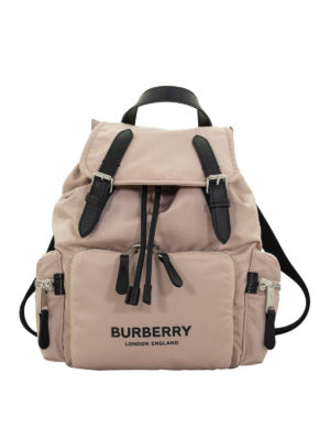 BURBERRY: backpacks - The Rucksack rose beige medium backpack