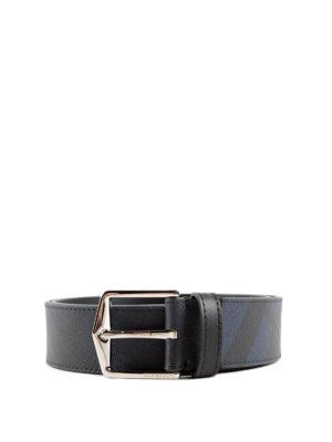 Burberry: belts - Joe London check belt