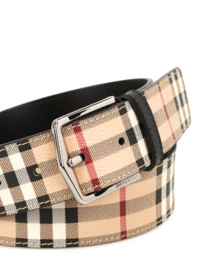 Burberry: belts online - Haymarket Joe print leather belt