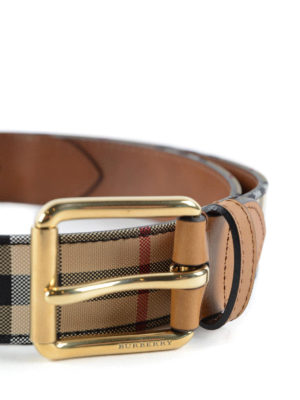Burberry: belts online - Mark canvas and leather belt