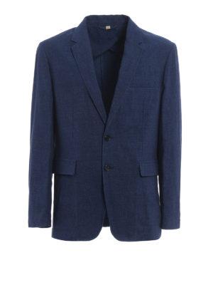 Burberry: blazers - Marley linen blend blazer