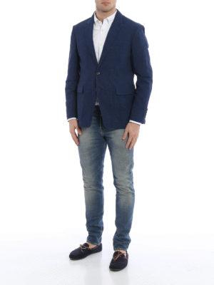 Burberry: blazers online - Marley linen blend blazer