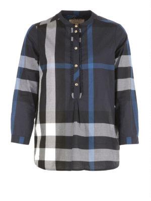 Burberry: blouses - Cotton bib blouse
