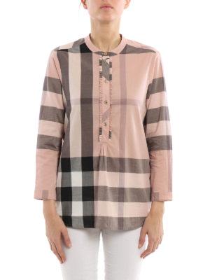 Burberry: blouses online - Buttoned plastron cotton blouse