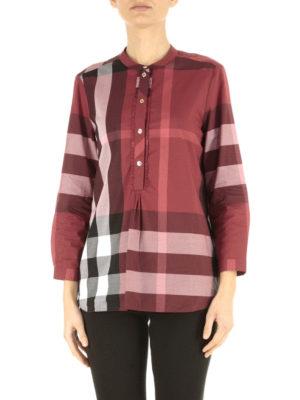 Burberry: blouses online - Cotton bib blouse