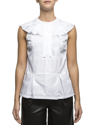 Burberry: blouses online - Ruched Check cotton blouse