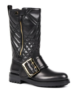 Burberry: boots online - Quilted leather boots
