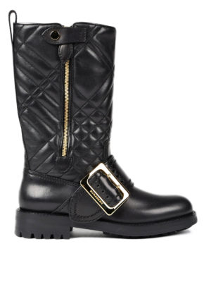 Burberry: boots - Quilted leather boots