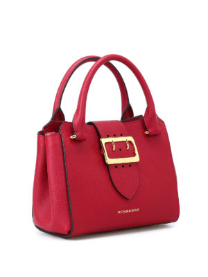 Burberry: bowling bags online - Soft grain small buckle tote