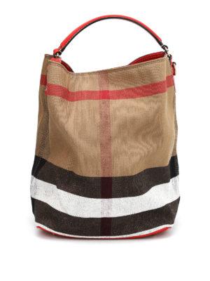 Burberry: Bucket bags - Susanna canvas check hobo bag