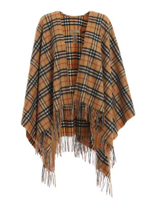 BURBERRY: Mantelle e poncho - Mantella check Burberry