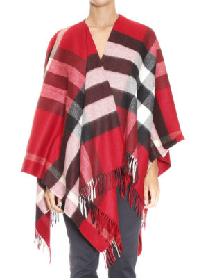 Burberry: Capes &  Ponchos online - Check cashmere and merino poncho