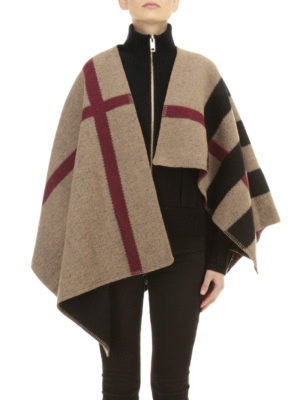 Burberry: Capes &  Ponchos online - House Check cashmere blend cape