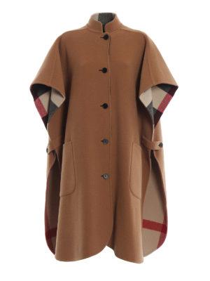 BURBERRY: Mantelle e poncho - Mantella reversibile in misto lana cammello