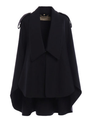 Burberry: Capes &  Ponchos - Tydehill wool blend cloth cape