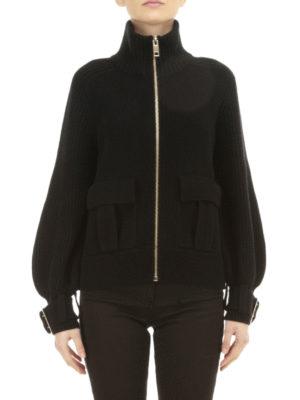 Burberry: cardigans online - Cashmere blend knitted jacket
