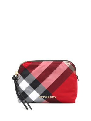 Burberry: Cases & Covers - Check printed beauty case