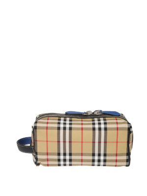 BURBERRY: custodie e cover - Beauty da viaggio in canvas e pelle