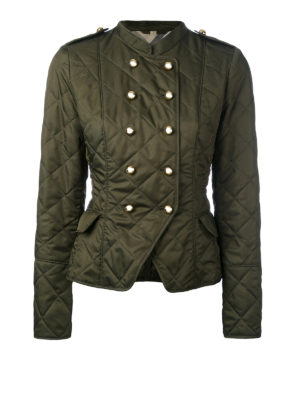 Burberry: casual jackets - Double-breasted quilted jacket