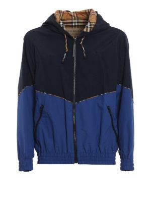 BURBERRY: giacche casual - Giacca a vento Elworth a blocchi di colore