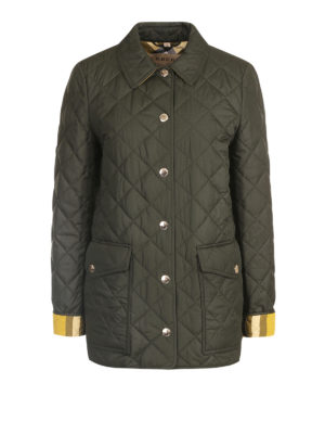 Burberry: casual jackets - Matte quilted nylon casual jacket