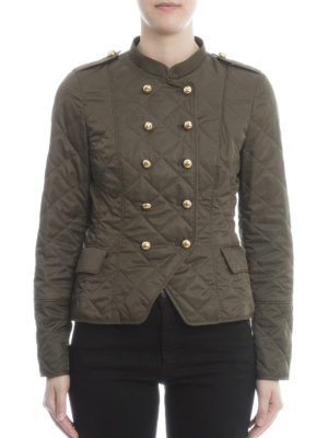 Burberry: casual jackets online - Double-breasted quilted jacket