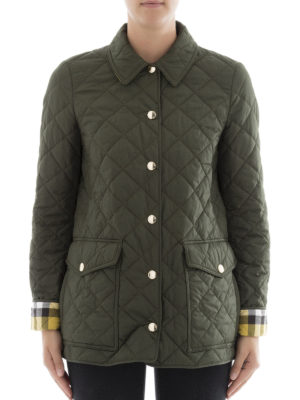 Burberry: casual jackets online - Matte quilted nylon casual jacket