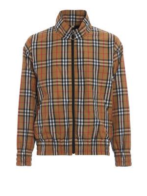 BURBERRY: giacche casual - Giacca a vento Peckham a motivo Check