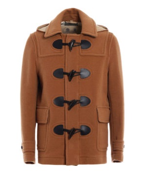 Burberry: casual jackets - Wool blend duffle jacket with hood